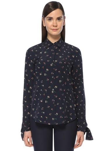 Çiçekli %100 İpek Gömlek-Theory